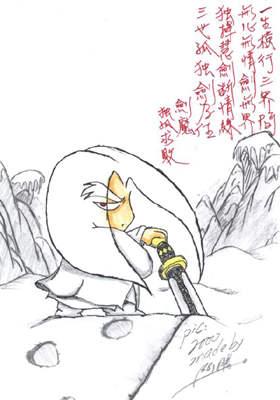 雪兔子手绘